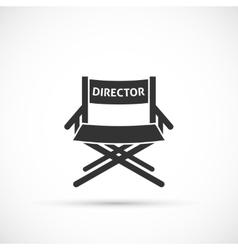 Directors chair icon vector