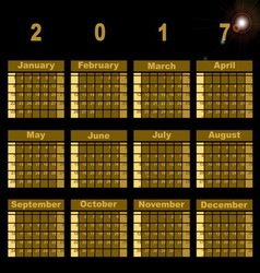 Gorgeous demo 2017 calendar template vector