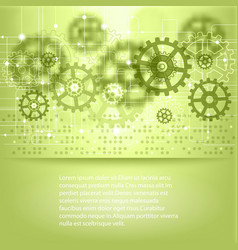 Green abstract future technology background vector