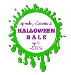 halloween sale green stain vector image vector image