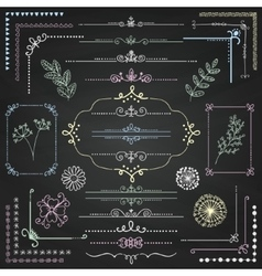 Hand Sketched Rustic Design Elements vector image vector image