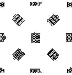 honeycomb pattern seamless black vector image