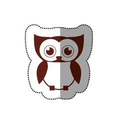 Isolated owl cartoon design vector image vector image