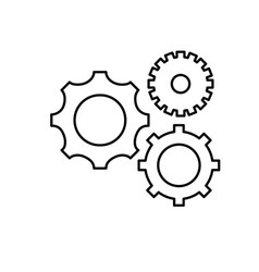 Line gears engineering industry process technology vector