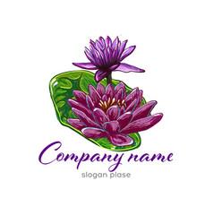lotus logolotus flower logobeauty logofashion vector image vector image