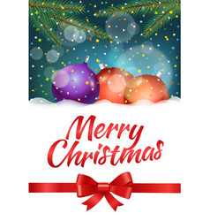 Merry christmas and happy new year composirion vector