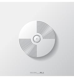 Music vinyl disk iconflat design vector
