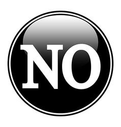 No sign button vector