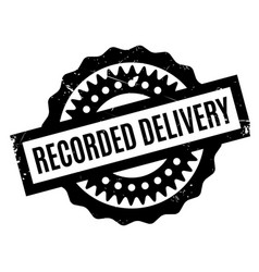 Recorded delivery rubber stamp vector