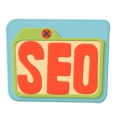 Seo icon cartoon style vector