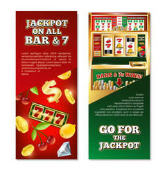 Slot machine vertical banners vector