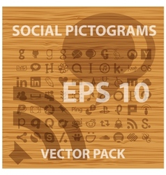 social and people pictograms symbols set vector image vector image
