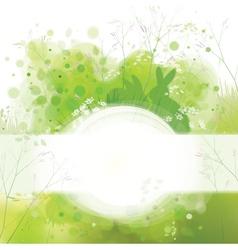 Spring frame rabbits card vector