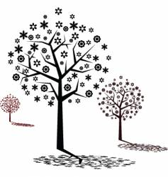 stylized tree design vector image vector image