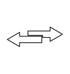 two side arrows black color icon vector image