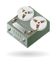 Type recorder vector image