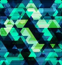 Urban triangle seamless pattern with grunge effect vector