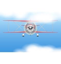 Vintage civil light airplane vector