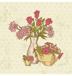 Vintage Flower Card vector image vector image