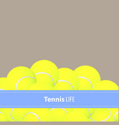 Yellow tennis balls vector