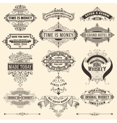 Mega pack of banners and labels vector