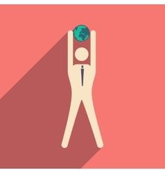 Flat design modern icon vector image