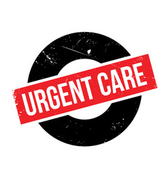 Urgent care rubber stamp vector