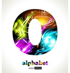 Design abstract letter o vector