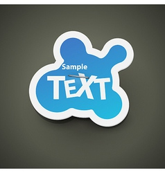 Chat bubble label vector