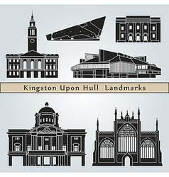 Kingston upon hull landmarks and monuments vector