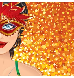 Carnival girl background vector
