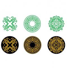 greek ornaments vector image