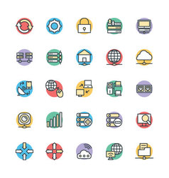 Networking Cool Icons 2 vector image