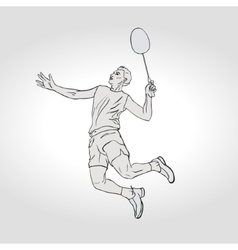 Badminton player hand vector