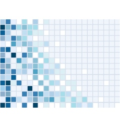 blue mosaic vector image vector image
