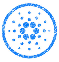 Cardano rounded icon grunge watermark vector