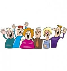 cartoon happy people vector image