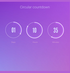Clock application ui elements design of vector