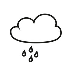 cloud with the rain icon vector image