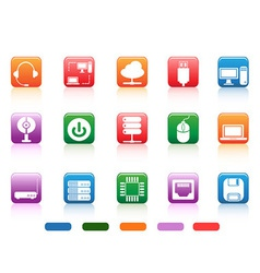 computer devices and components buttons icon vector image vector image