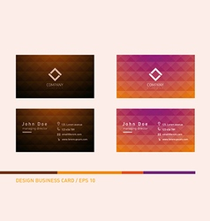 Creative development of business cards with a tria vector