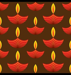 Creative red diwali diya pattern background vector
