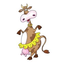 Dancing cow vector