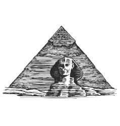 Egypt logo design template Egyptian vector image vector image