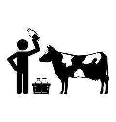 fresh milk vector image