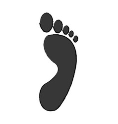 human footprint human person icon on white vector image