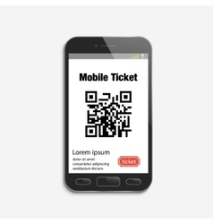 Mobile phone ticket online service vector image
