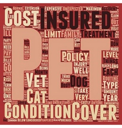 Pet insurance have you got it text background vector