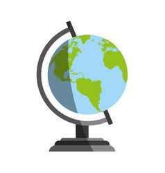Planet earth globe icon image vector