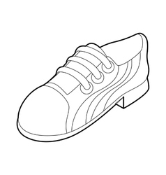 Running shoe icon outline style vector image vector image